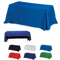 3-Sided Economy Table Covers & Table Throws -Blanks / Fit 8 Foot Table